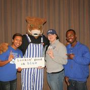 UK Mascot Scratch with students