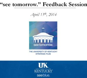 Front slide for See Tomorrow Feedback Session