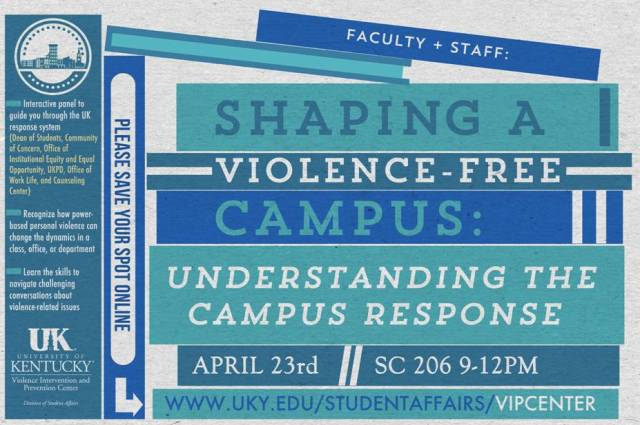 VIP Poster for Shaping a Violence-Free Campus