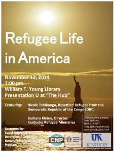 "Poster for Kickoff Event ""Refugee Life in America"""