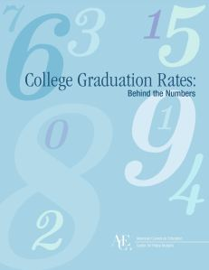 Cover of College Graduation Rates report by ACE
