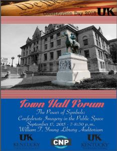 Town Hall Forum, Sept 17th