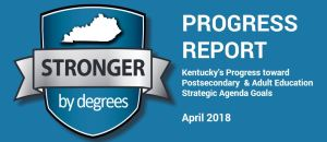 Stronger by degrees Progress Report, April 2018